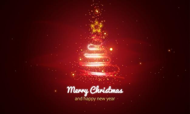 Glühender weihnachtsbaum-hintergrund
