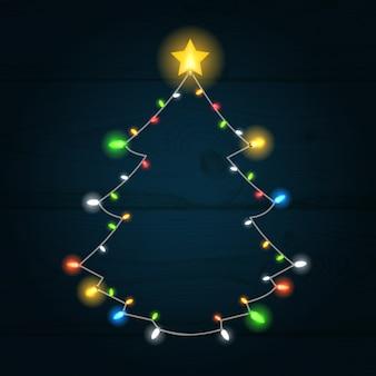 Glühender weihnachtsbaumhintergrund