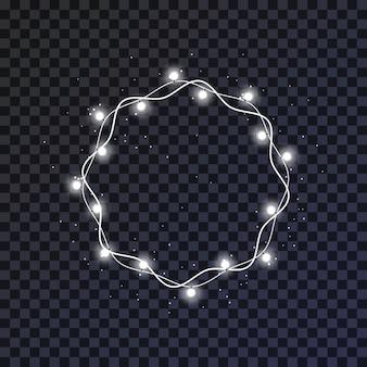 Glühender weihnachtslicht-kranz