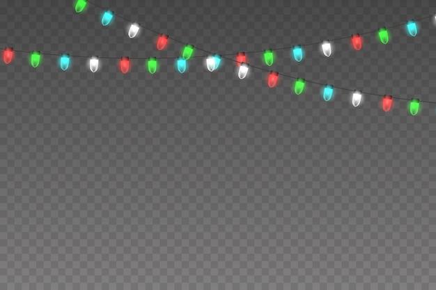 Glühender weihnachtslichthintergrund