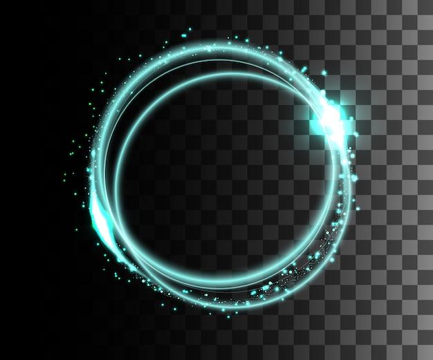 Glühender weißer transparenter effekt, linseneffekt, explosion, glitzer, linie, sonnenblitz, funke und sterne. für illustrationsschablonenkunst, banner für weihnachtsfeier, magischer blitz energiestrahl.