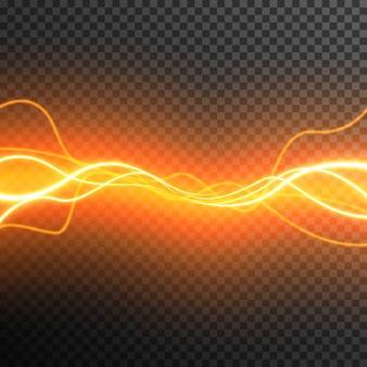 Glühender wellenvektor des abstrakten lichteffektes transparent
