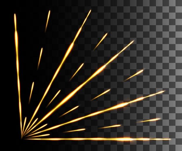Glühendes licht. abstrakter gelber effekt.