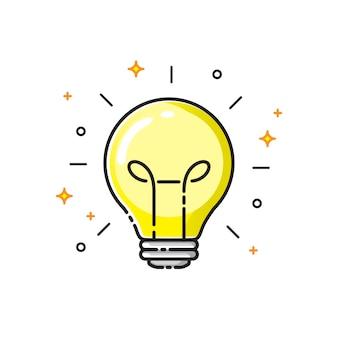 Glühlampe-ikonendesign