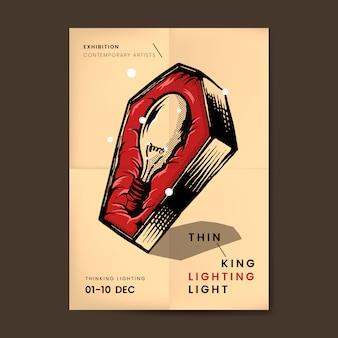 Glühlampe im sargvektor