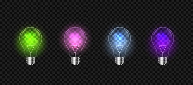 Glühlampen auf hintergrund, led-glühlampe.