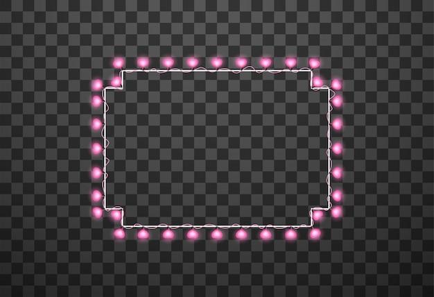 Glühlampen der herzen lokalisiert auf transparentem