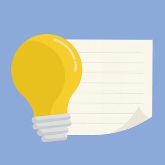 Glühlampevektordesign mit copyspace