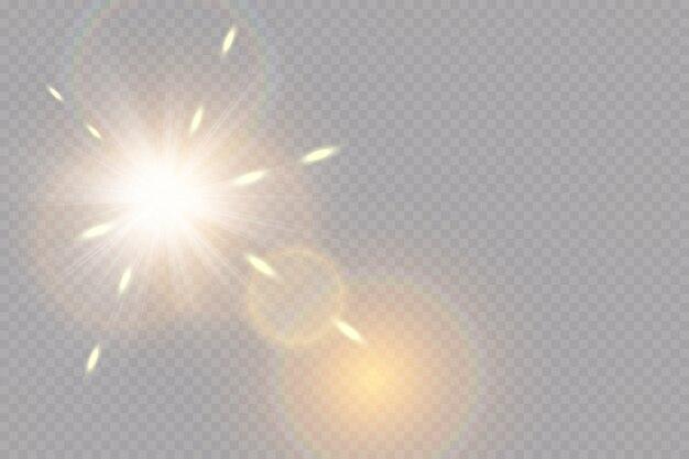 Glühlichteffekt. starburst mit funkeln.