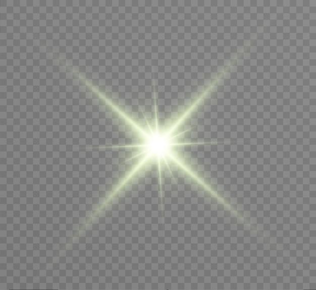 Glühlichteffekt. stern platzte vor funkeln. illustration