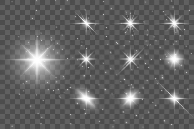 Glühlichteffekt. stern platzte vor funkeln.
