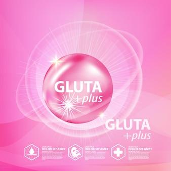 Gluta kollagen serum hautpflege kosmetik