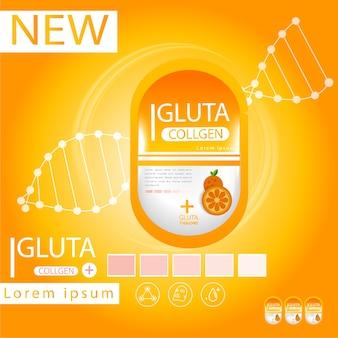 Glutathion-Packung mit Kapsel