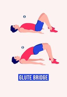 Glute bridge übung männer workout fitness aerobic und übungen