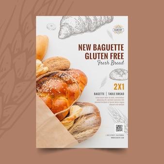 Glutenfreier vertikaler baguette-flyer