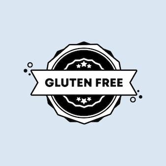 Glutenfreies abzeichensymbol in der wohnung. vektor. glutenfreie stempelsymbole. zertifiziertes abzeichenlogo. stempelvorlage. etikett, aufkleber, symbole. vektor-eps 10. auf hintergrund isoliert
