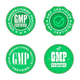 Gmp gute herstellungspraxis industrielle grüne markierungen.
