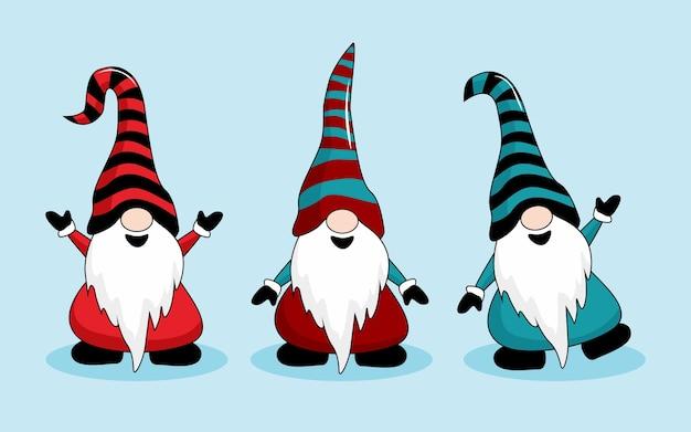 Gnome weihnachtskarikatur süß
