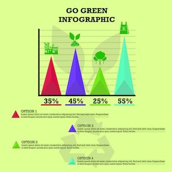 Go green infographik
