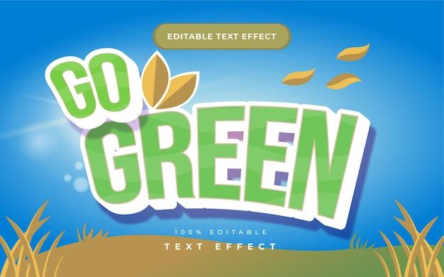 Go green natur texteffekt für illustrator