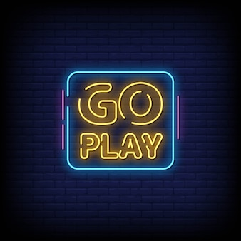 Go play neon signs style text