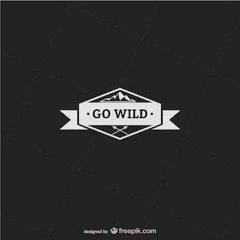 Go wild etikett vektor