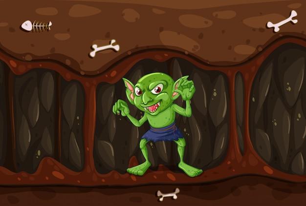 Goblin in der mysterienhöhle
