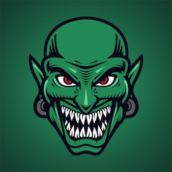 Goblin kopf maskottchen logo