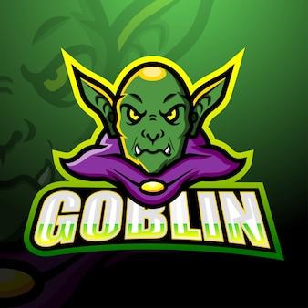 Goblin maskottchen esport illustration