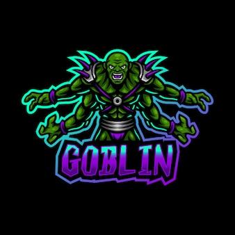 Goblin maskottchen logo esport gaming