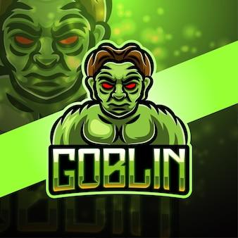 Goblin sport maskottchen logo design