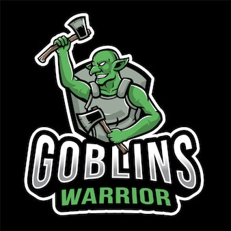 Goblins warrior esport logo vorlage
