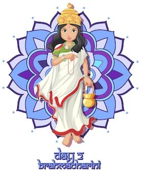 Göttin auf navarati festivalplakat