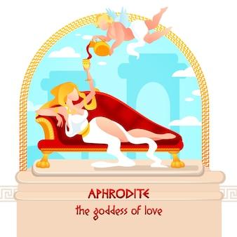 Göttin der liebe, schönheit und leidenschaft aphrodite