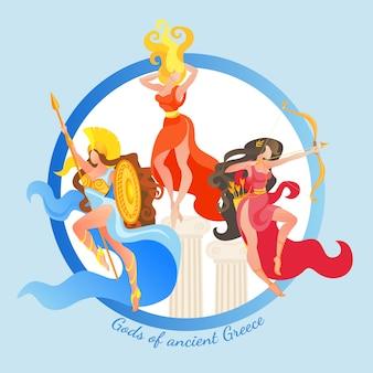 Göttin des antiken griechenland artemis athene hestia