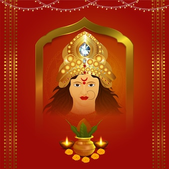 Göttin durga gesicht für shubh navratri