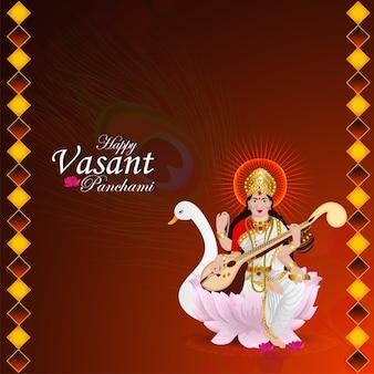 Göttin saraswati illustration und hintergrund