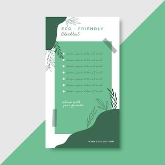 Going green checkliste instagram geschichte