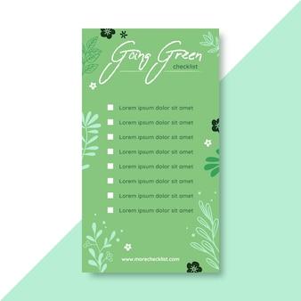 Going green checkliste instagram story vorlage
