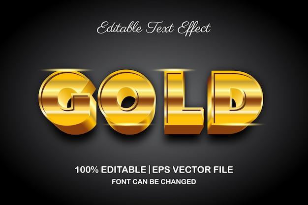 Gold 3d bearbeitbarer texteffekt