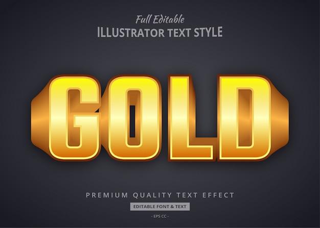 Gold 3d text style effekt