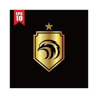 Gold-adler-schild-logo-vorlage