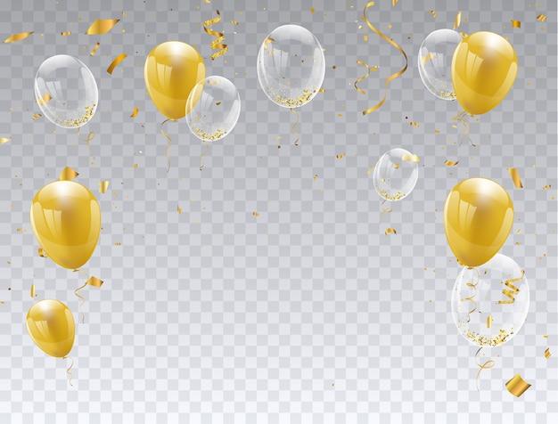 Gold ballons isoliert