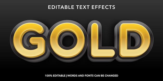 Gold bearbeitbarer texteffekt