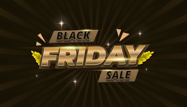 Gold black friday hintergrund