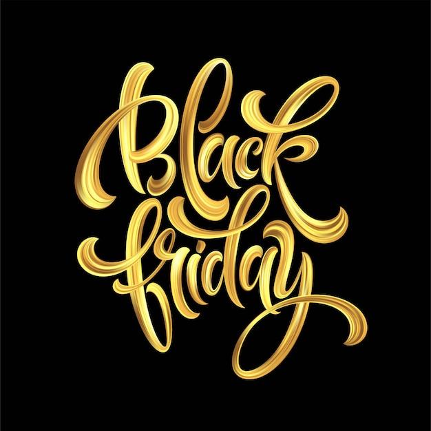 Gold black friday sale kalligraphie schriftzug.