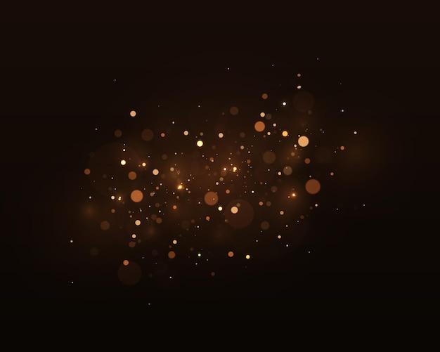 Gold bokeh verschwommenes licht abstrakter hintergrund mit bokeh-effekt magisches konzept