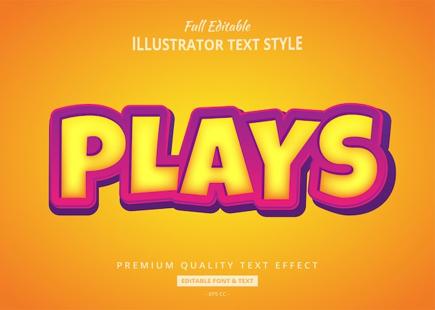 Gold bold 3d text style effekt