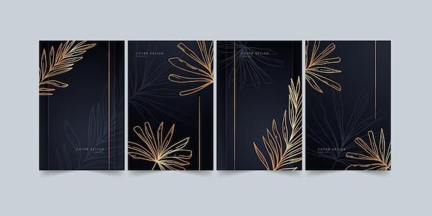 Gold botanische cover-sammlung
