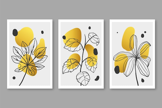 Gold botanisches cover pack